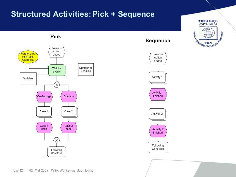 Structured Activities: Pick + Sequence