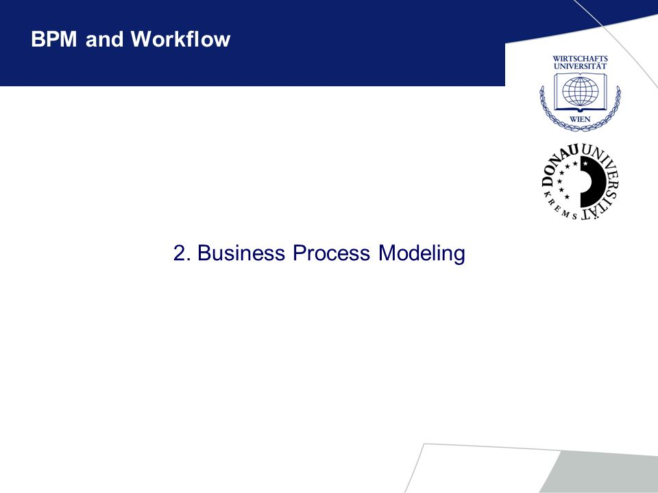 2. Business Process Modeling