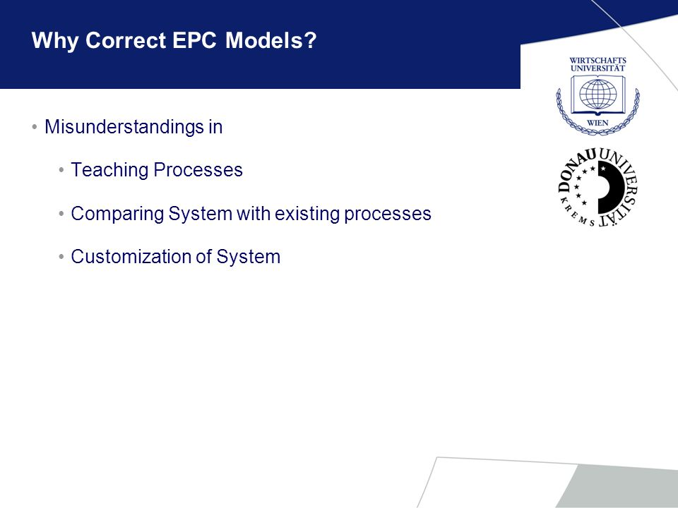 Why Correct EPC Models Misunderstandings in Teaching Processes
