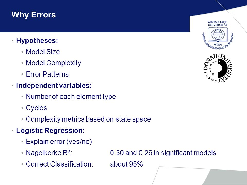 Why Errors Hypotheses: Model Size Model Complexity Error Patterns