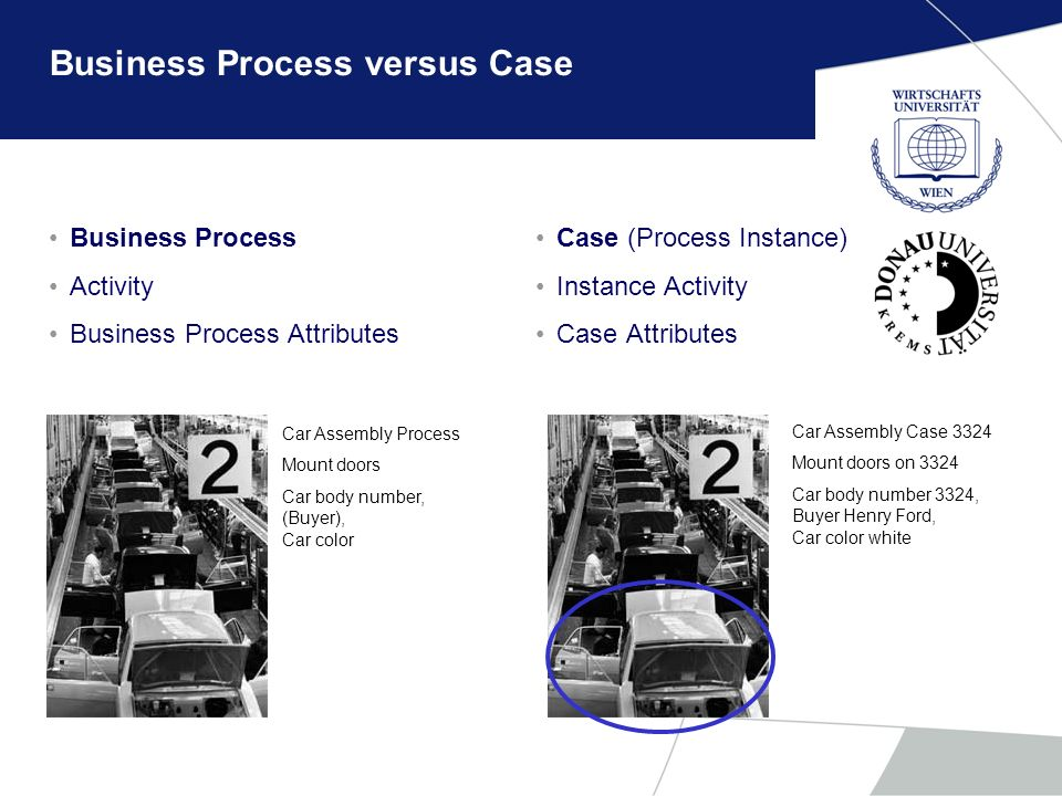 Business Process versus Case