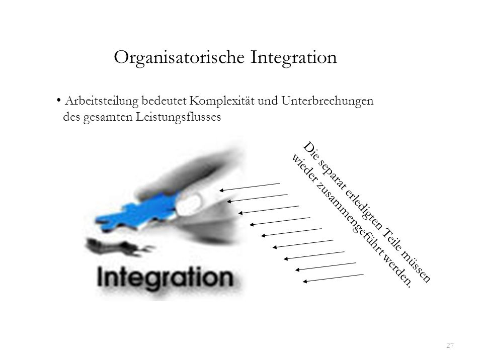 Organisatorische Integration