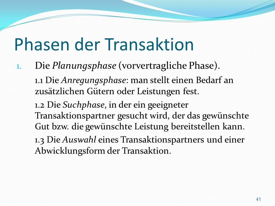 Phasen der Transaktion