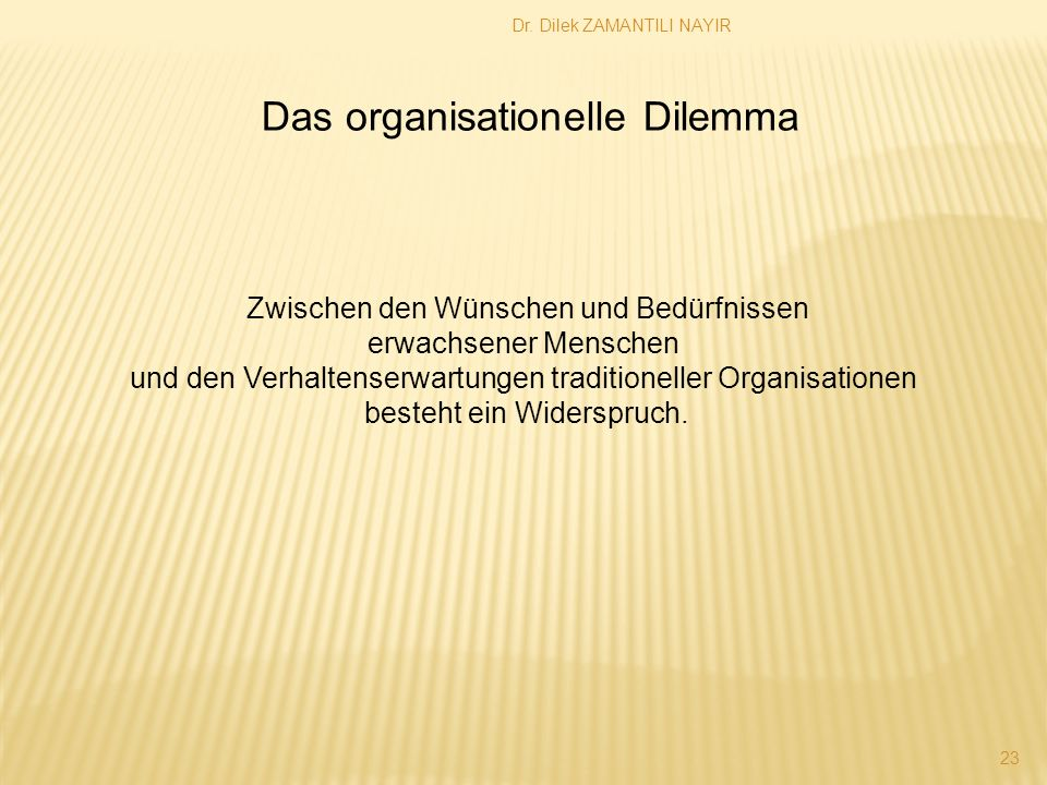 Das organisationelle Dilemma