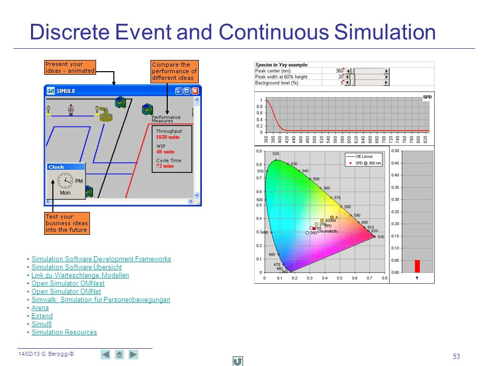 Discrete Event and Continuous Simulation