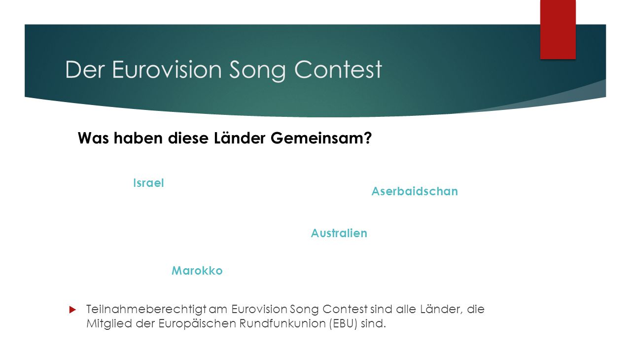 Der Eurovision Song Contest