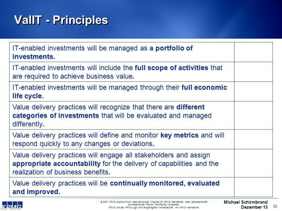ValIT - Principles IT-enabled investments will be managed as a portfolio of investments.