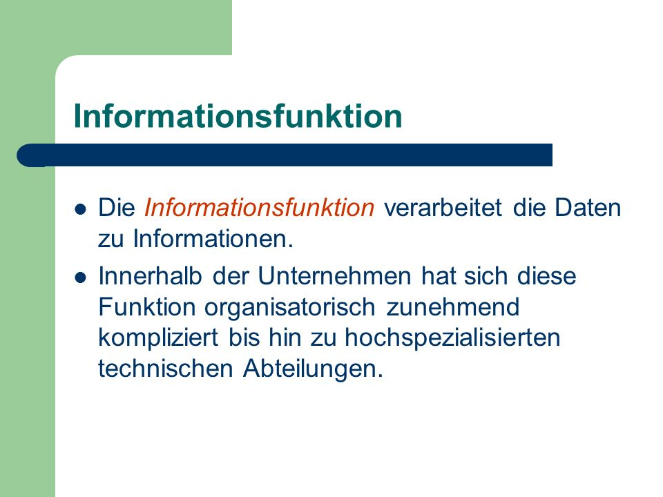 Informationsfunktion