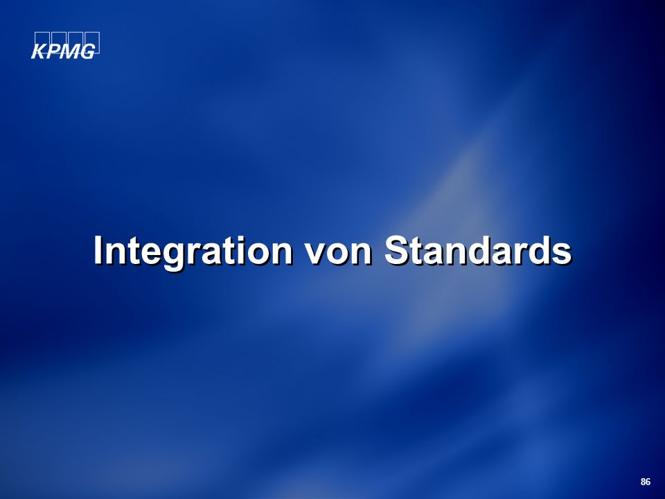 Integration von Standards