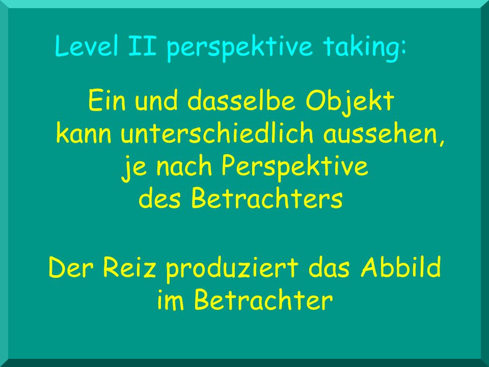 Level II perspektive taking: