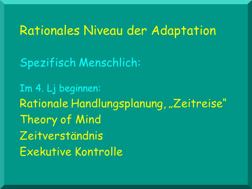 Rationales Niveau der Adaptation