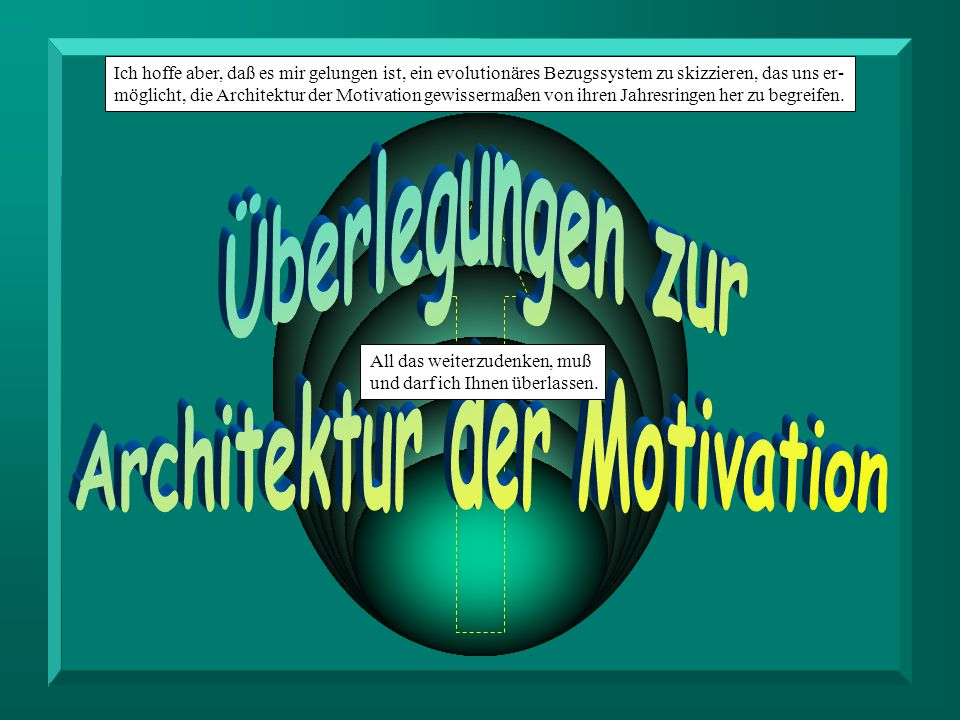 Architektur der Motivation