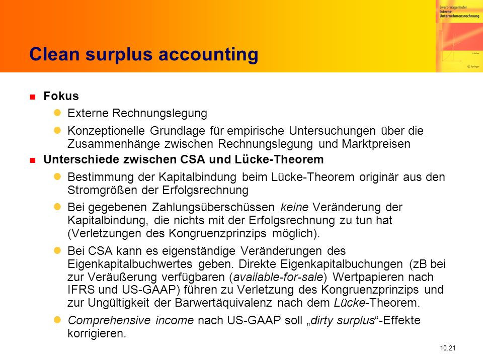 Clean surplus accounting