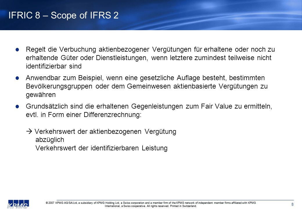 IFRIC 8 – Scope of IFRS 2