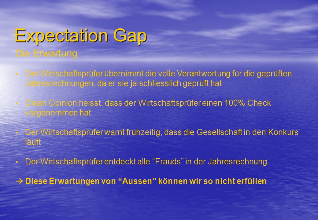 Expectation Gap Die Erwartung