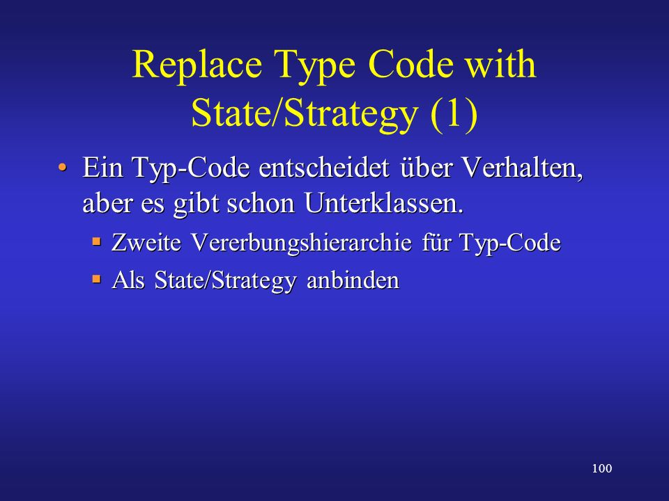 Replace Type Code with State/Strategy (1)