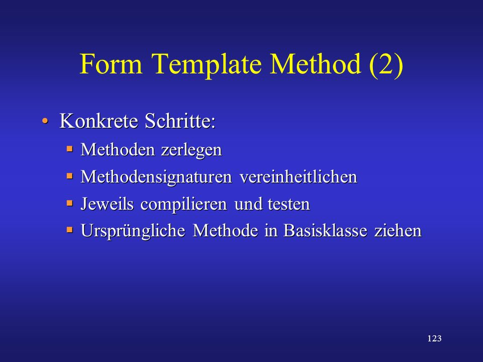 Form Template Method (2)