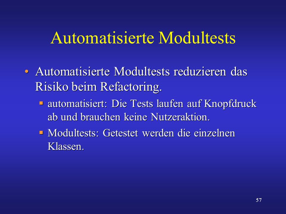 Automatisierte Modultests
