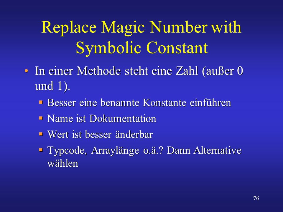 Replace Magic Number with Symbolic Constant