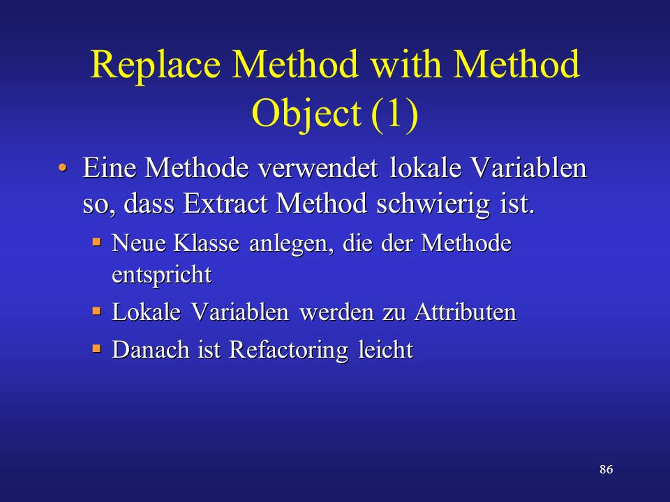 Replace Method with Method Object (1)