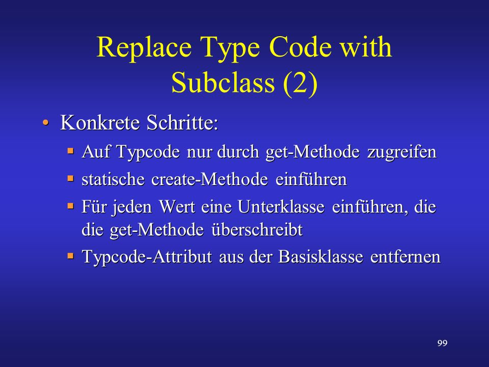 Replace Type Code with Subclass (2)