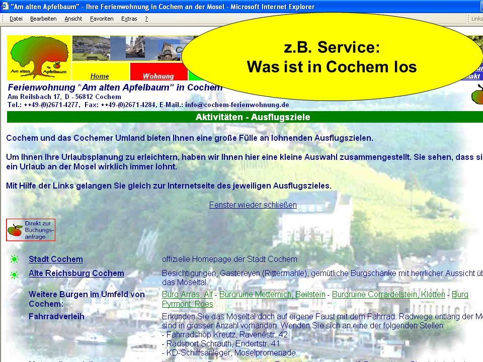 z.B. Service: Was ist in Cochem los