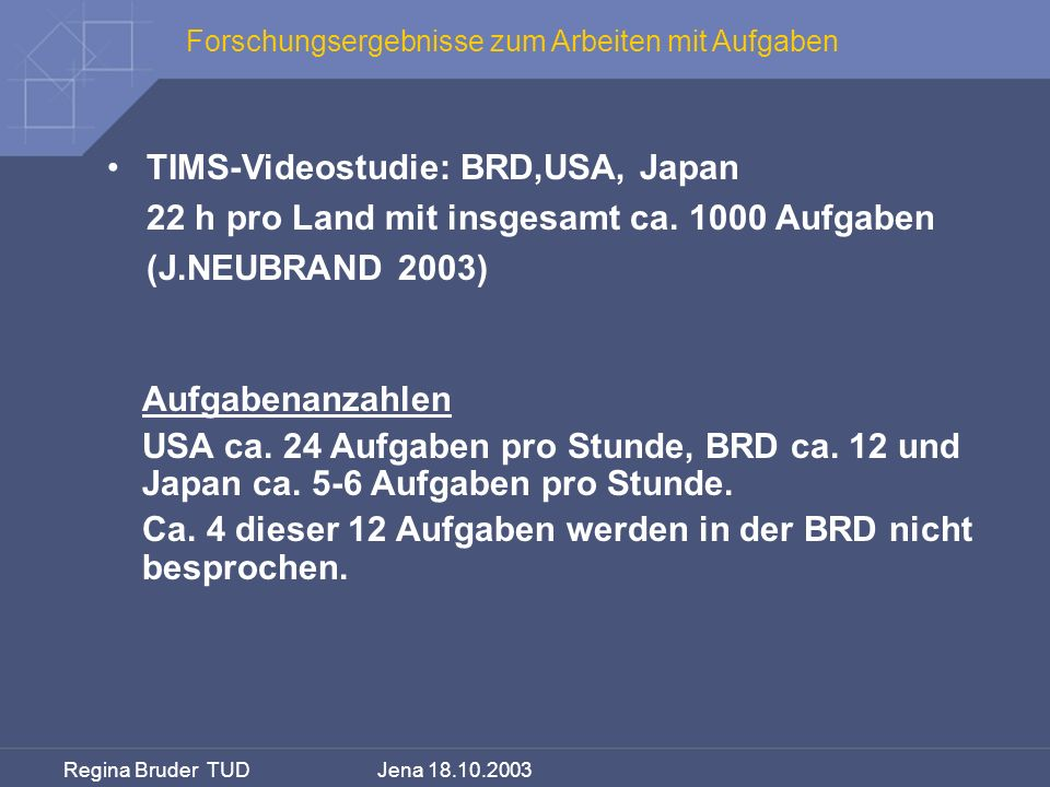 TIMS-Videostudie: BRD,USA, Japan