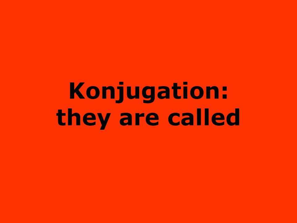 Konjugation: they are called