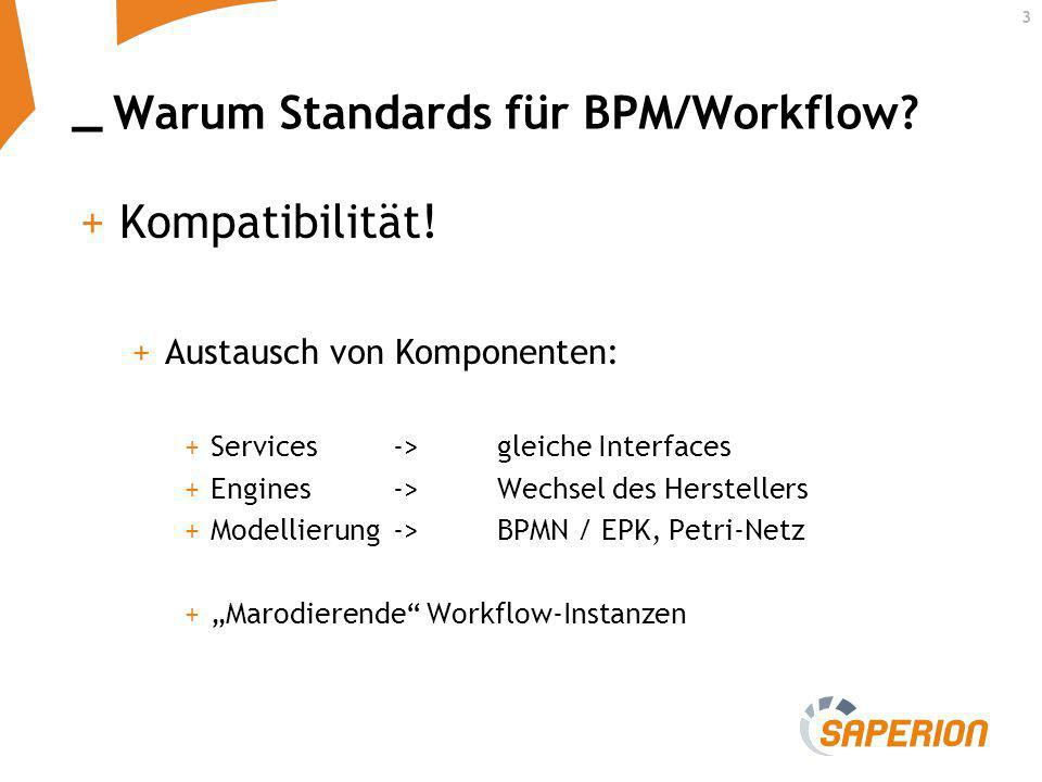 Warum Standards für BPM/Workflow