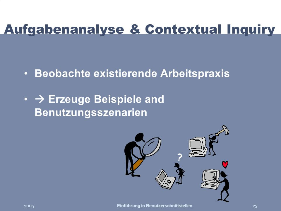 Aufgabenanalyse & Contextual Inquiry