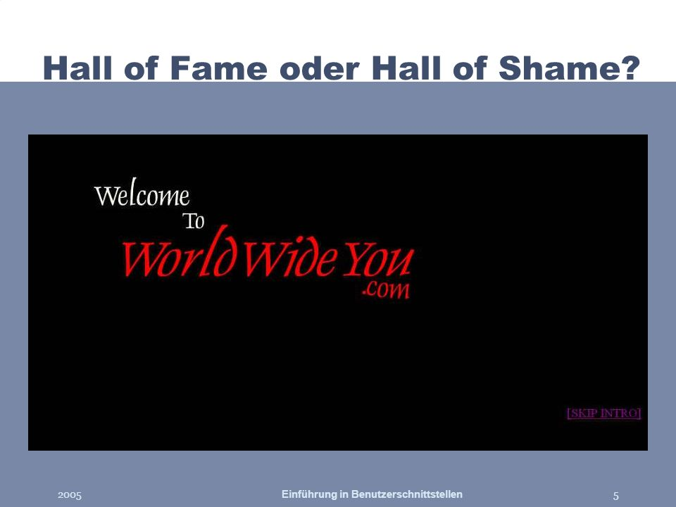 Hall of Fame oder Hall of Shame