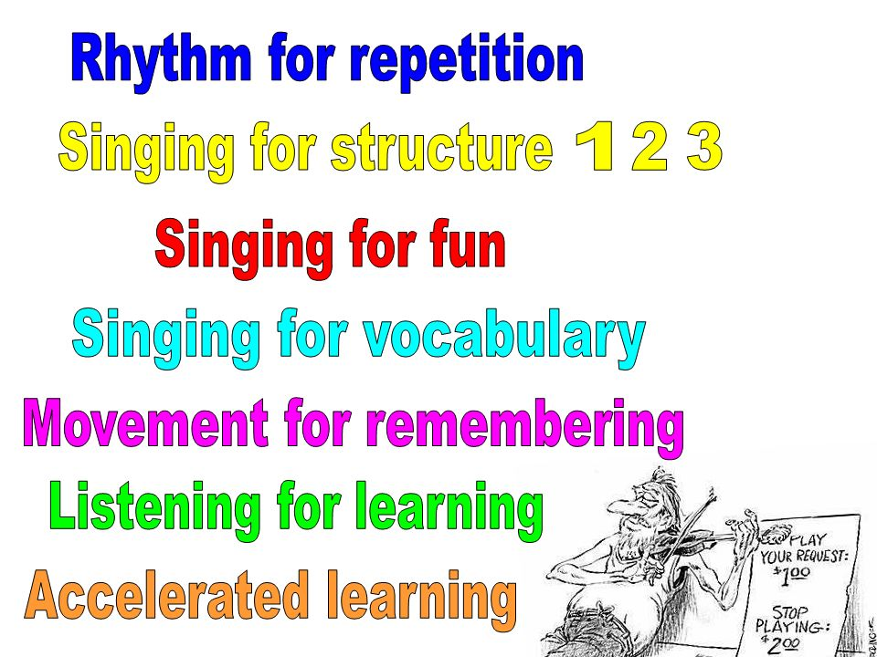 Singing for vocabulary