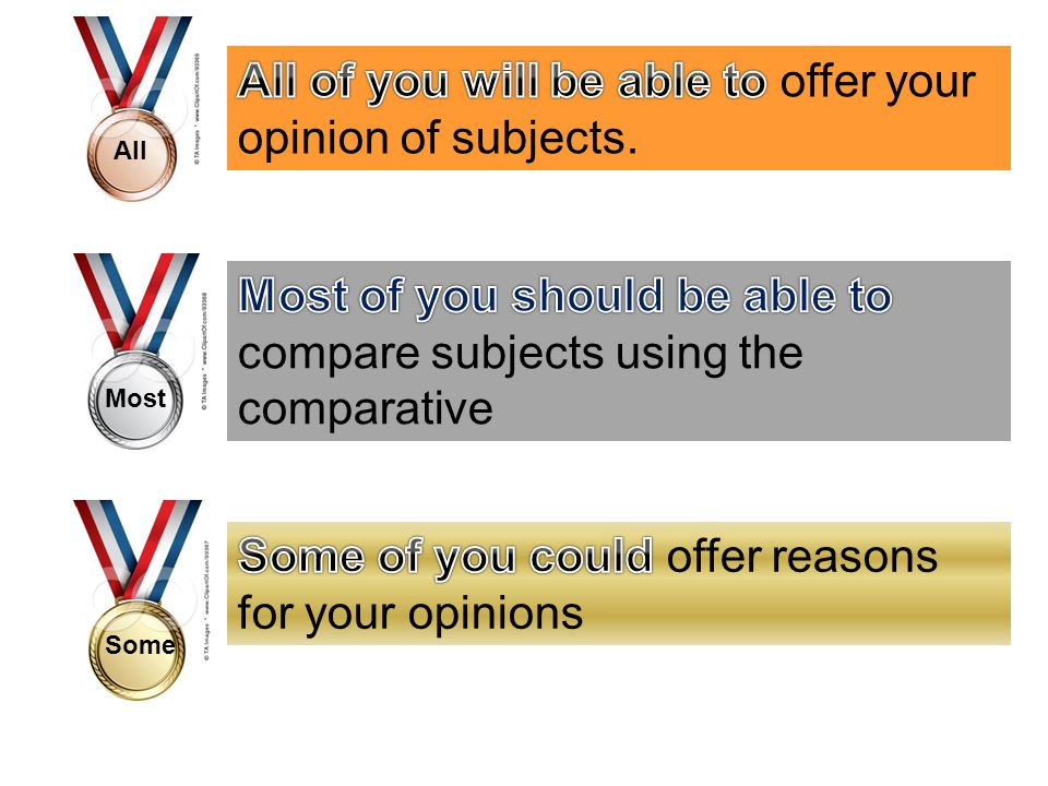 All of you will be able to offer your opinion of subjects.