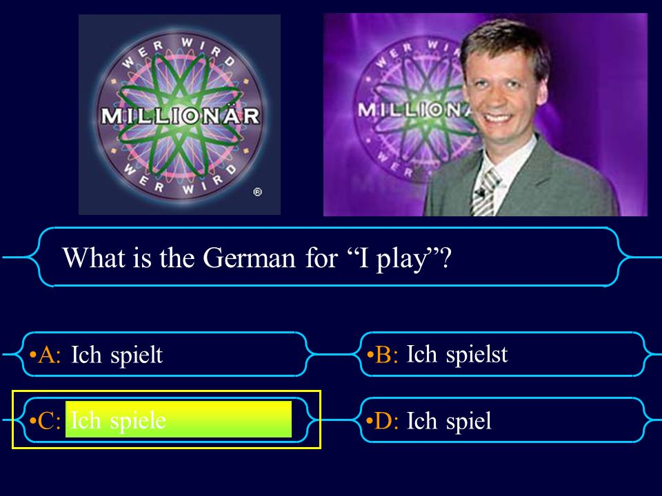 What is the German for I play