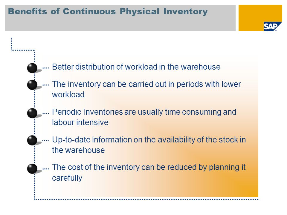 Benefits of Continuous Physical Inventory