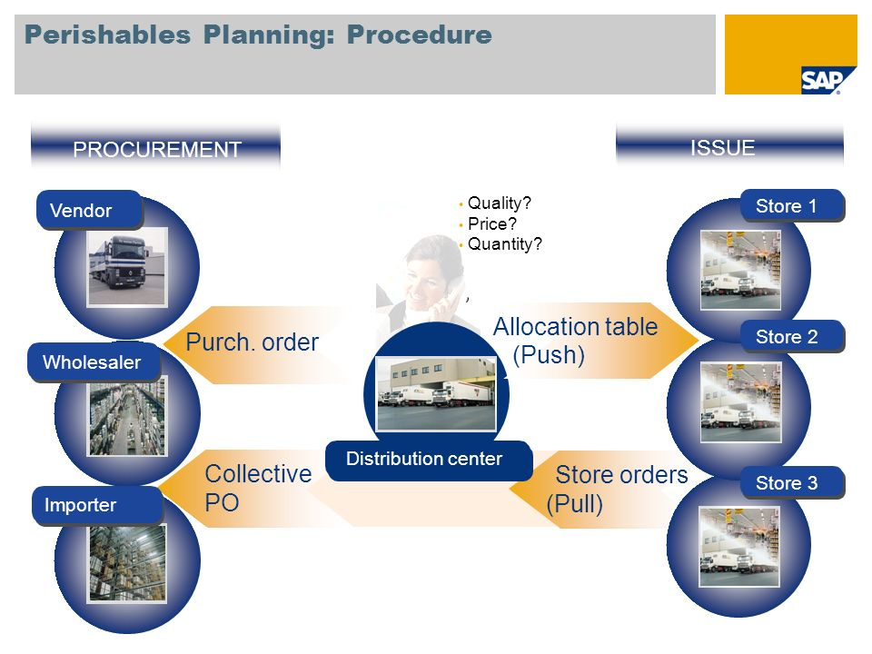 Perishables Planning: Procedure
