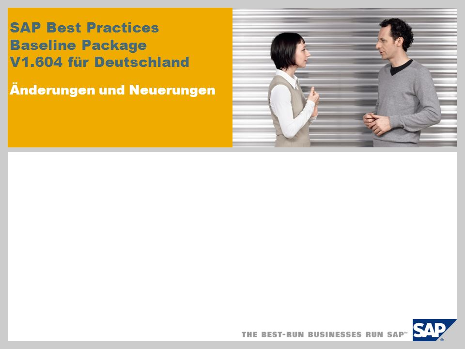 SAP Best Practices Baseline Package V1