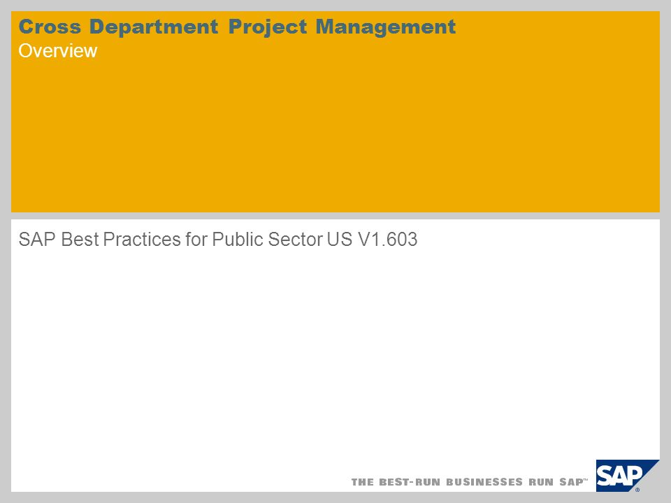 Cross Department Project Management Overview