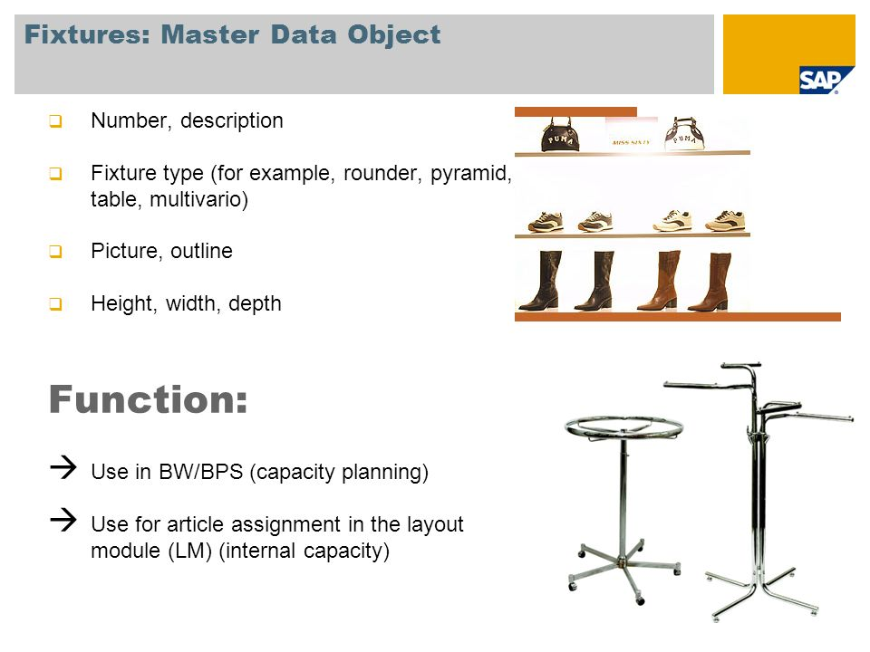 Fixtures: Master Data Object