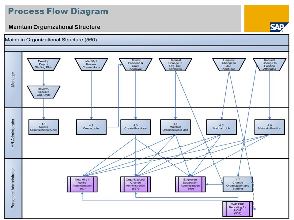 Process Flow Diagram Maintain Organizational Structure