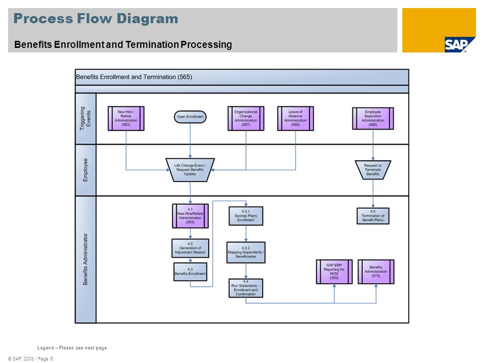 Process Flow Diagram Benefits Enrollment and Termination Processing