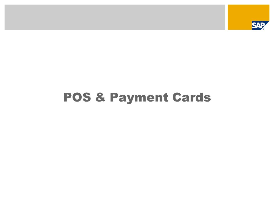 POS & Payment Cards