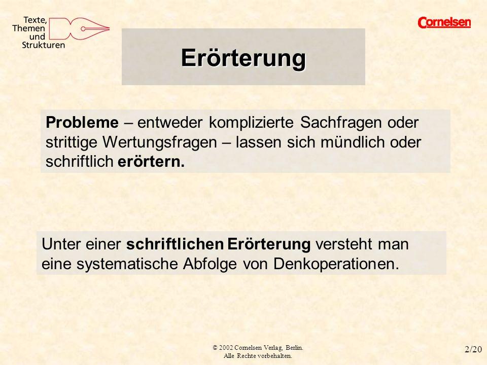 2 errterung - Stellungnahme Einleitung Beispiel