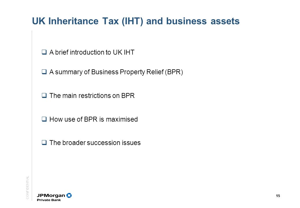 UK Inheritance Tax (IHT) and business assets