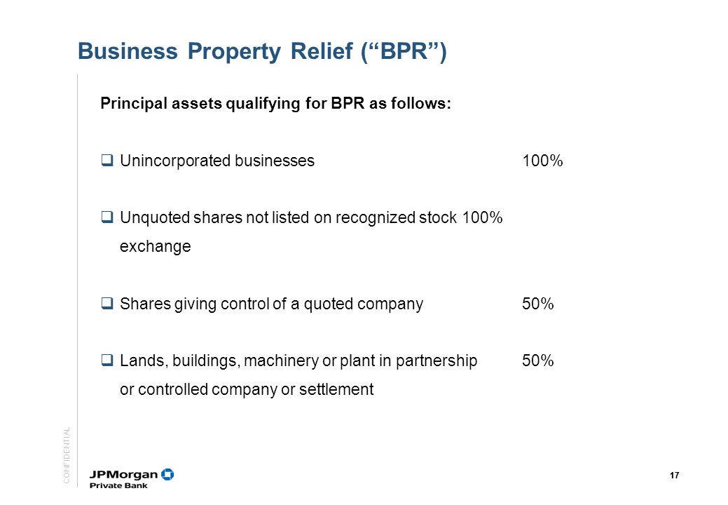 Business Property Relief ( BPR )