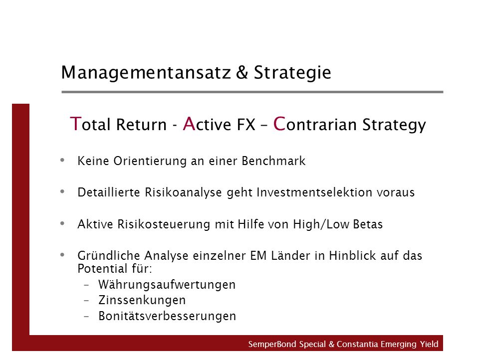 Managementansatz & Strategie