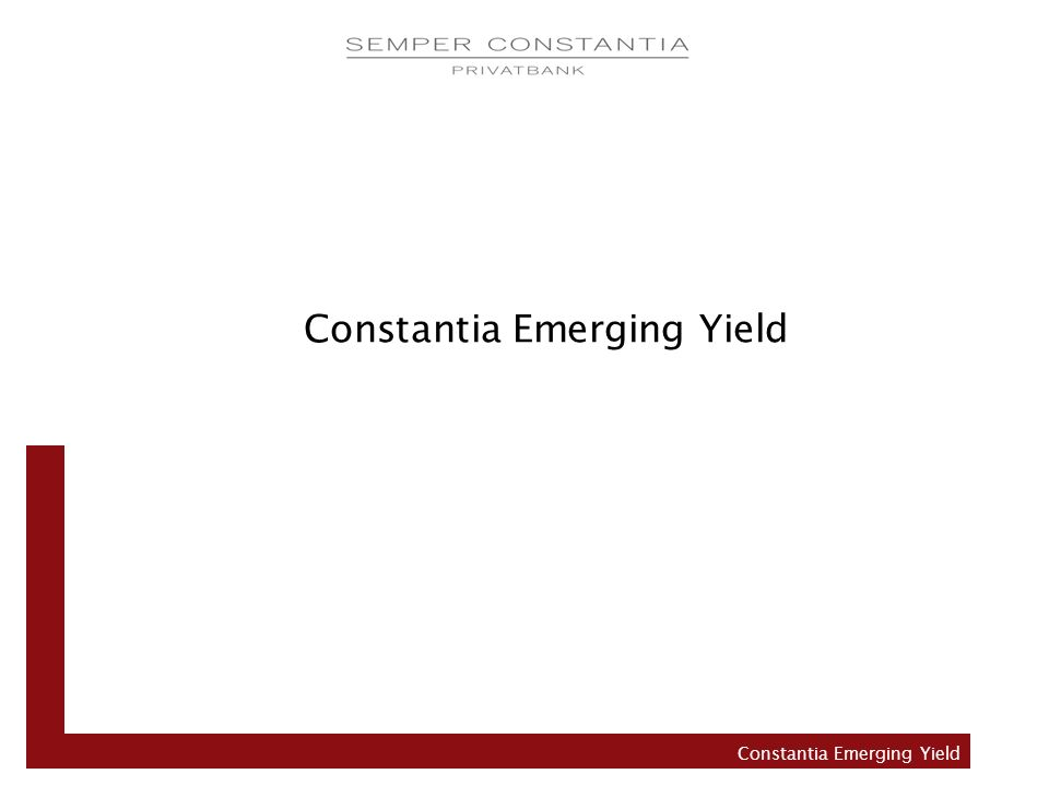 Constantia Emerging Yield