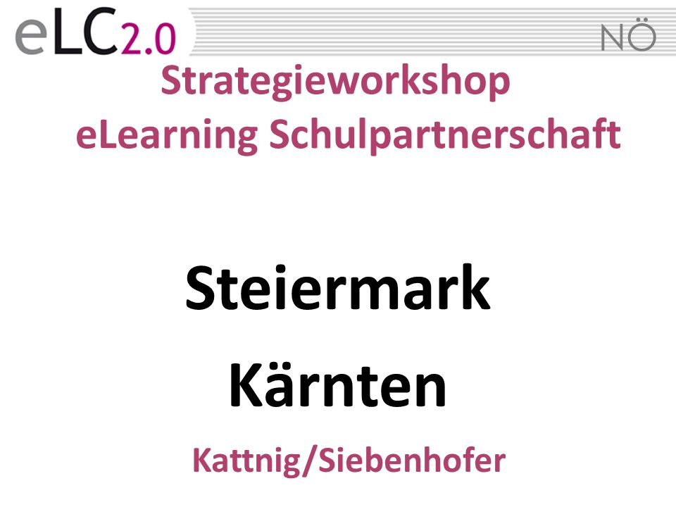 Strategieworkshop eLearning Schulpartnerschaft