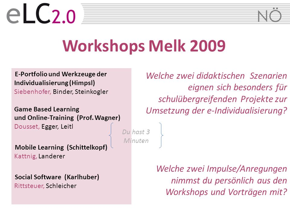 Workshops Melk 2009