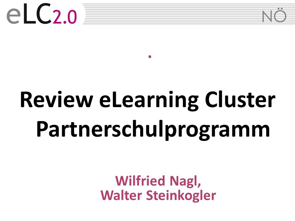 Review eLearning Cluster Partnerschulprogramm